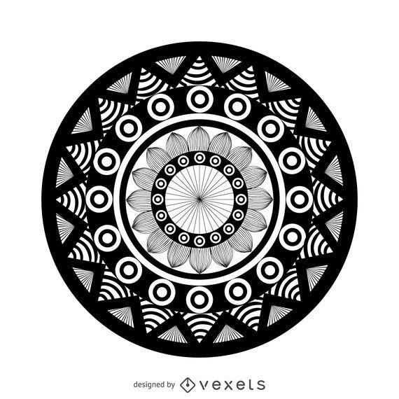 Geometric mandala drawing