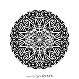 Diseño de mandala tribal