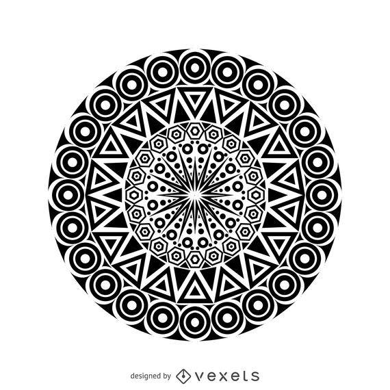 Desenho de mandala tribal