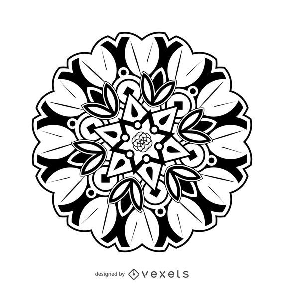 Flor mandala dibujo