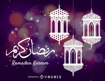 Dibujo de celebración de Ramadán