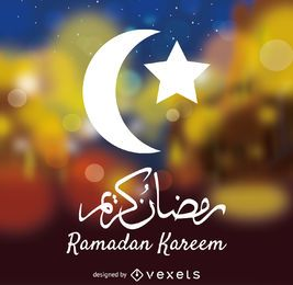 Sinal de Ramadan Kareem