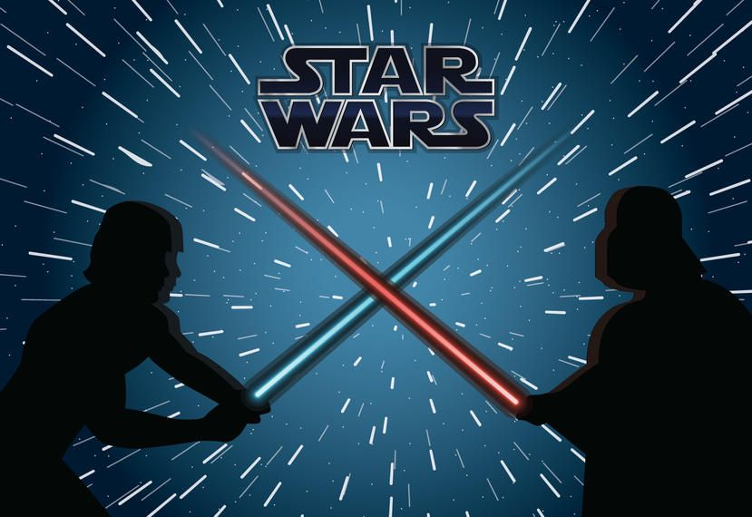 Ilustración de la lucha de Star Wars