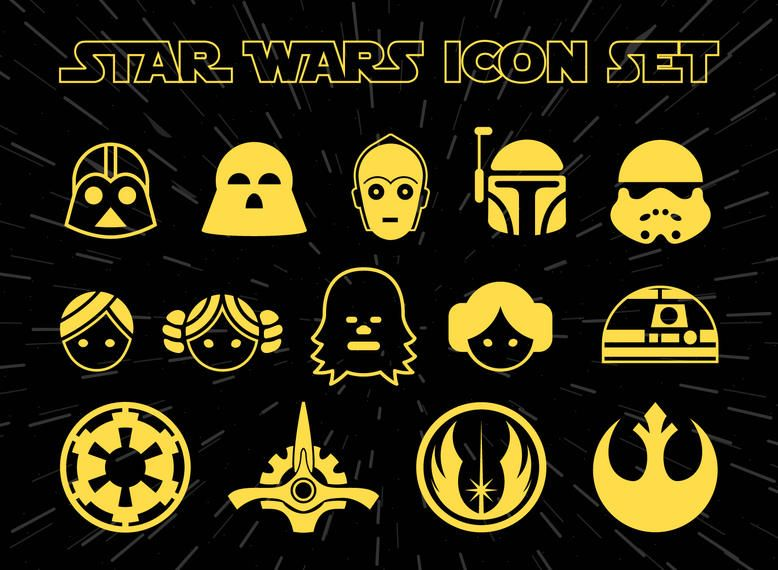 Conjunto de iconos de Star Wars