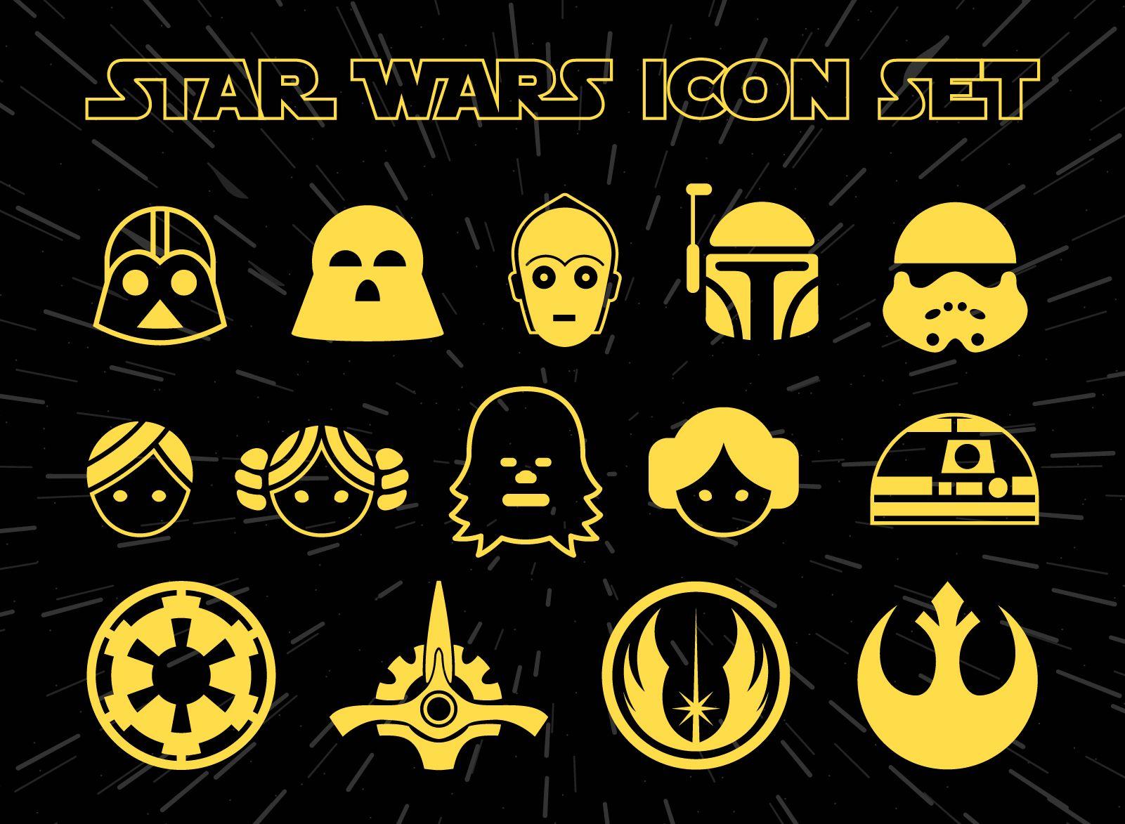 Conjunto de iconos de Star Wars