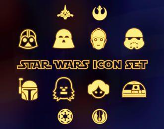 Coleção de ícone de star wars