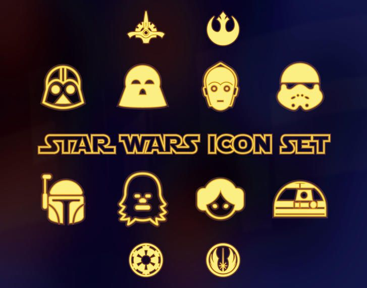 Star Wars icon collection