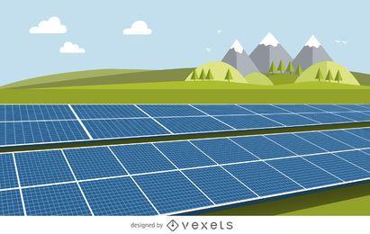 Sonnenkollektorzeichnung