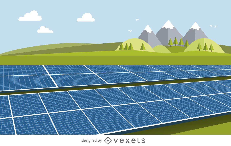 Desenho do painel solar