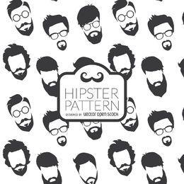 Hipster barbas patrón