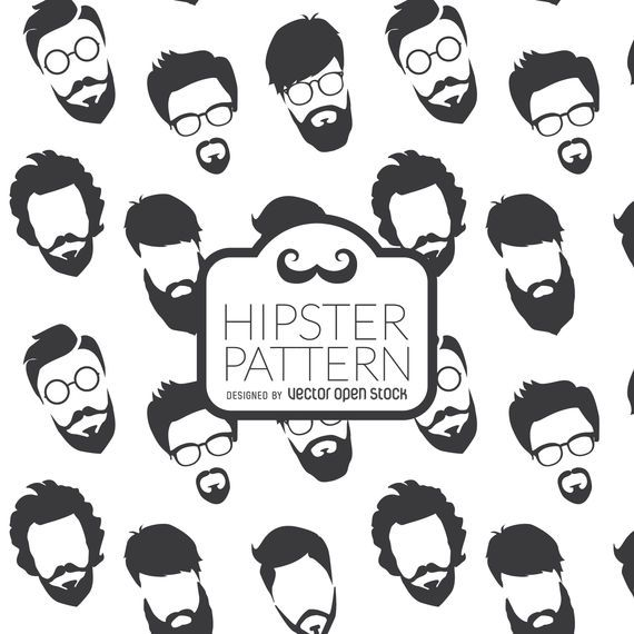 Hipster beards pattern