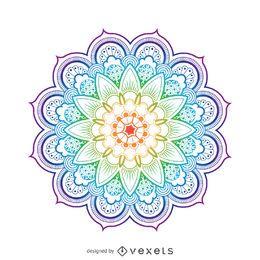 Ilustración brillante de la flor del mandala