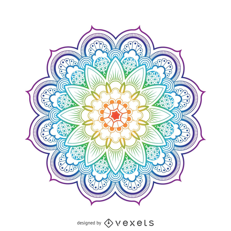 Ilustraci 243 N Brillante De La Flor Del Mandala Descargar