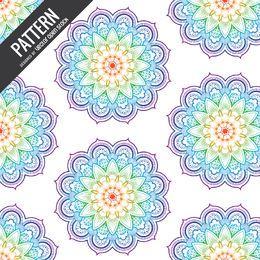Pano de fundo com padrão de arco-íris