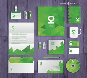 Business stationary mockup