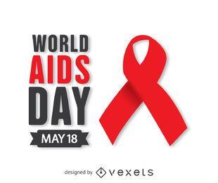 Rotes Band zum Welt-AIDS-Tag