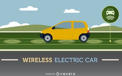 Carro elétrico sem fio