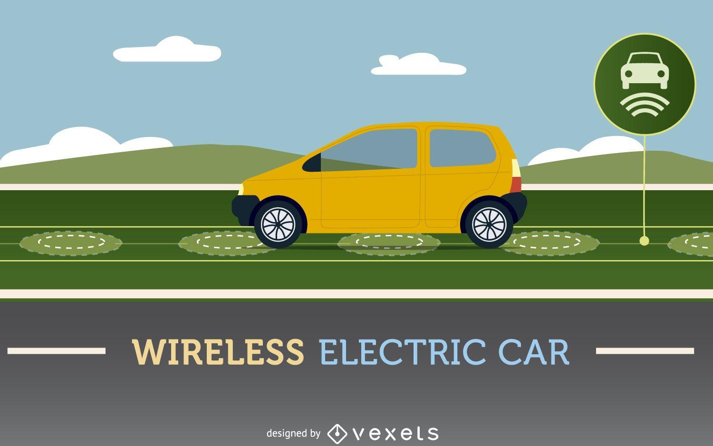 Wireless electric car