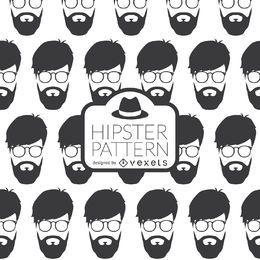 Patrón de cara hipster