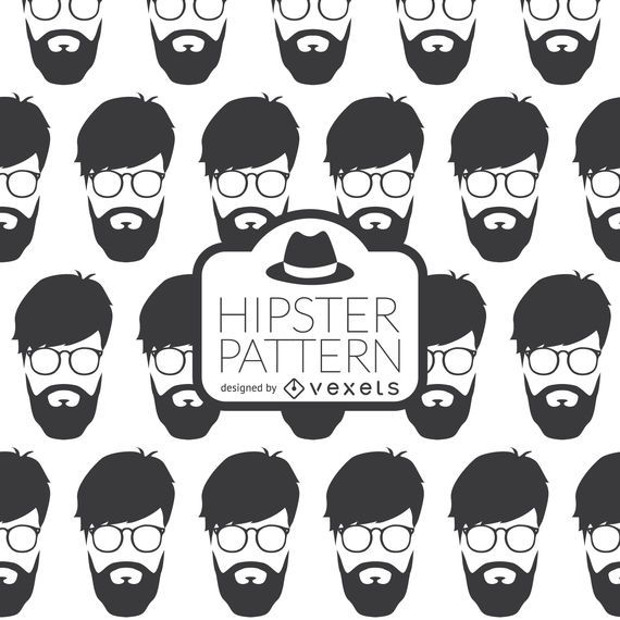 Hipster face pattern