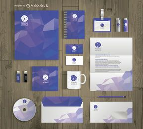 Office stationary mockup