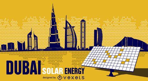 Energía solar de dubai