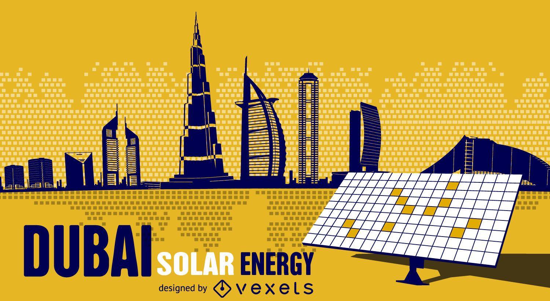 dubai solar energy - vector download, Powerpoint templates
