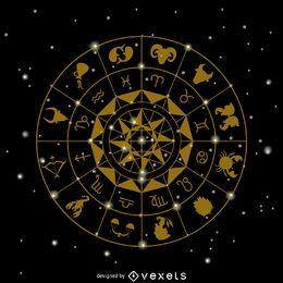 Desenho dos signos do zodíaco