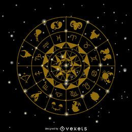 Zodiac signs drawing