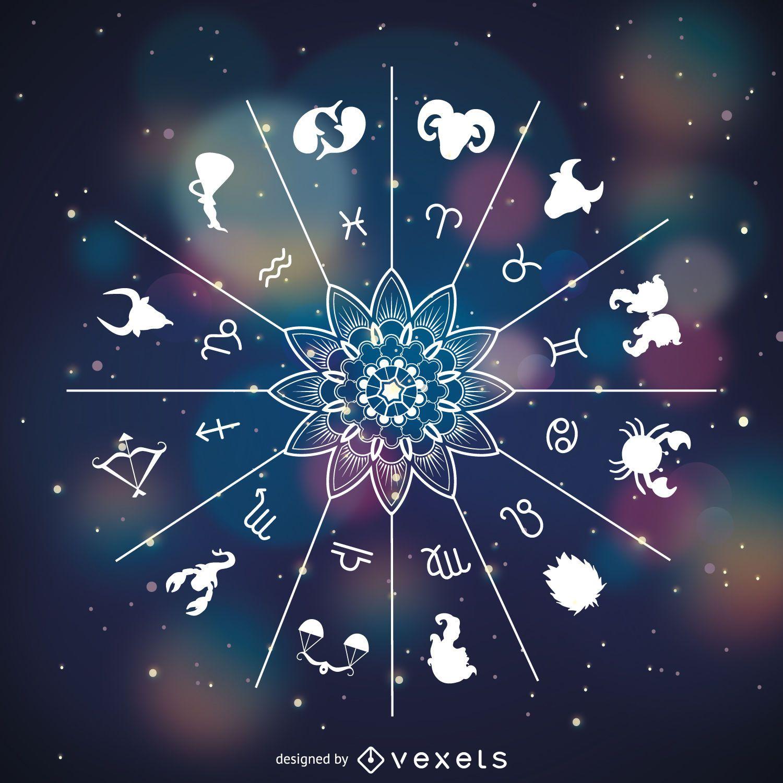 Signos del zodiaco símbolos dibujo