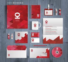Büro stationäres Mockup-Design