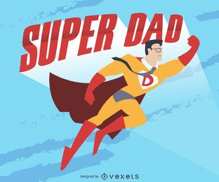 Super dad drawing