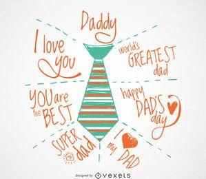 Vatertagsgrußkarte