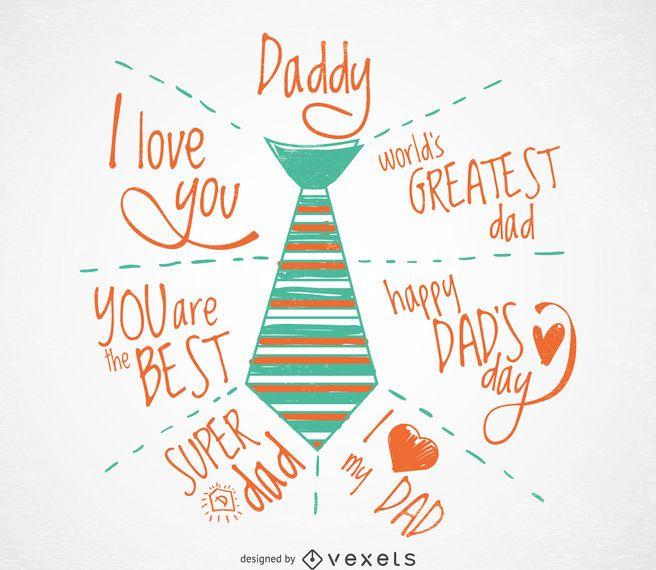 Tarjeta de felicitación del día del padre