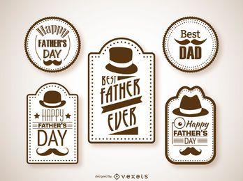 Etiquetas del día del padre Hipster.