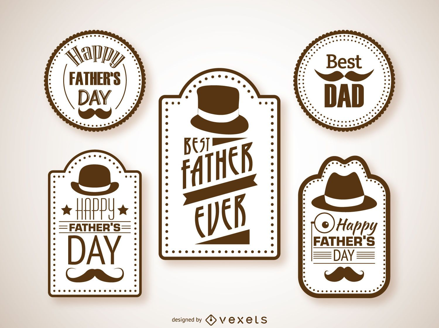 Hipster father's day labels