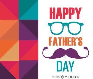cartão do dia dos pais poligonal