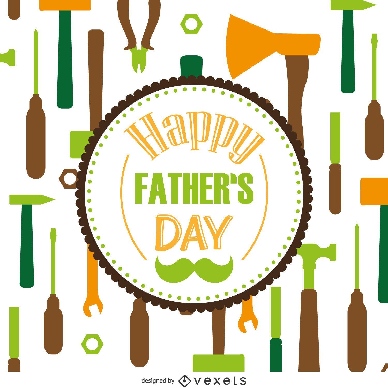 Patrón de herramientas Día del Padre