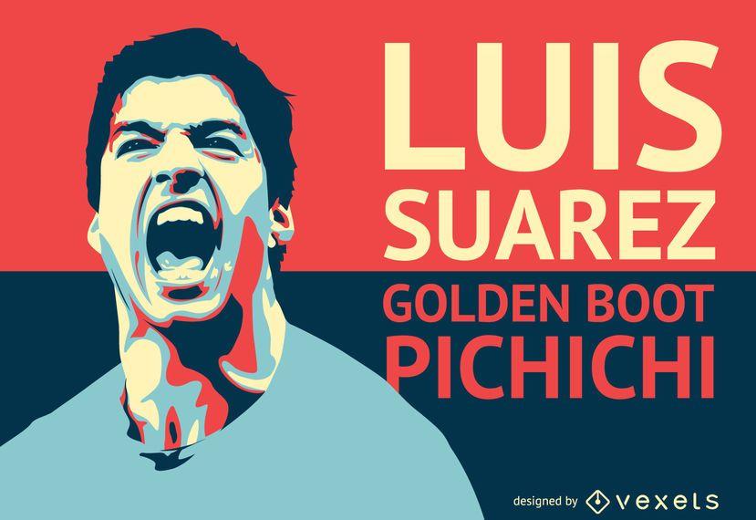 Luis Suarez football player illustration