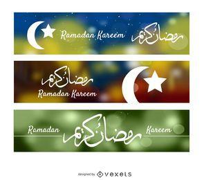 3 banderas de Ramadan Kareem