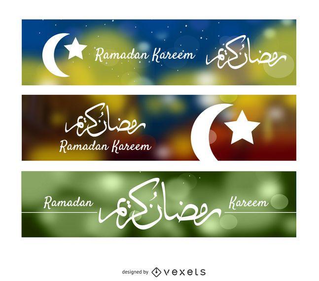 3 Ramadan Kareem Banner