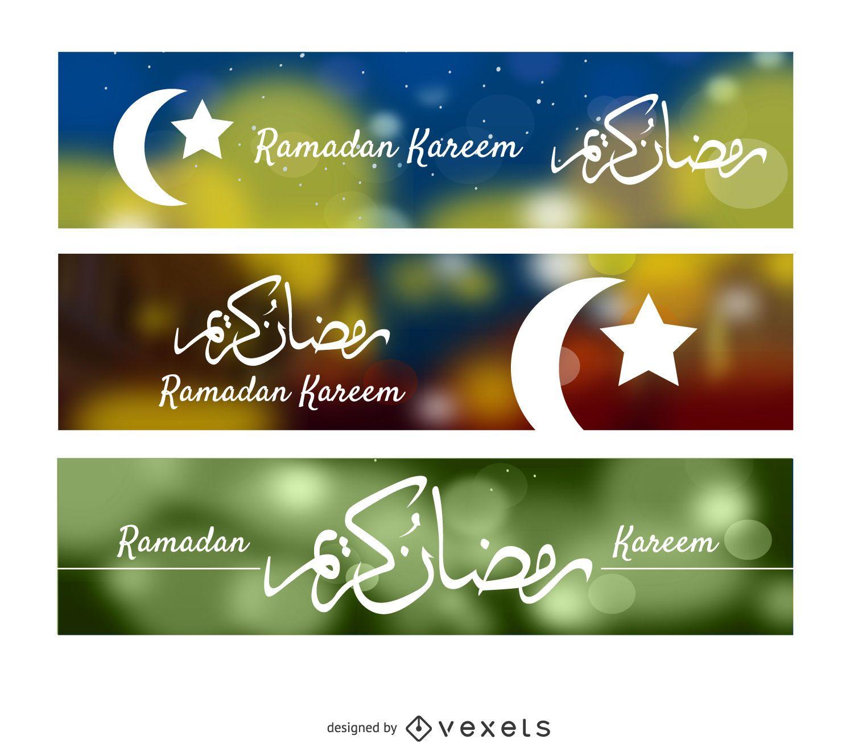 3 Ramadan Kareem banners