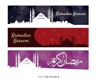 banderas del horizonte de Ramadan