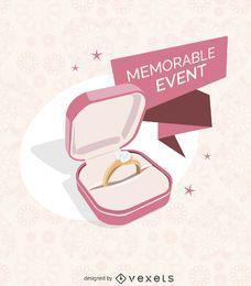 Ilustração do anel de casamento