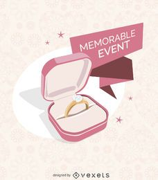 Ilustración de anillo de bodas