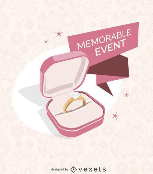 Ilustração de anel de casamento