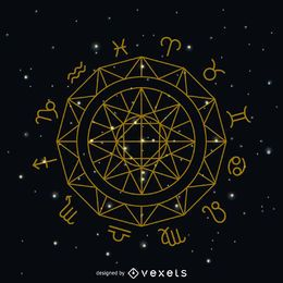 símbolo del círculo signo del zodiaco