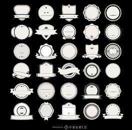 Colección de insignias de etiquetas hipster