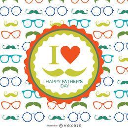 Patrón de gafas del día del padre