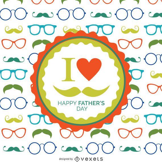 Padrão de óculos do dia dos pais